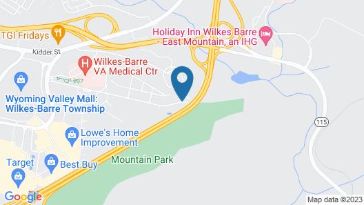 WoodSpring Suites Wilkes-Barre Map