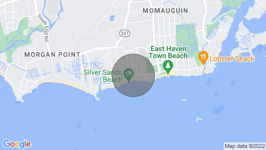 Cottage by the Sea, Yale New Haven Getaway Destination Map