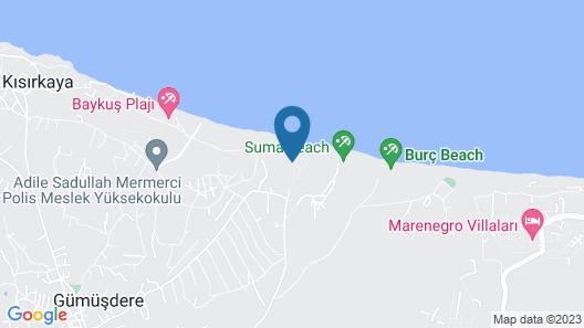 Atlitur Gumusdere Beach Camp Map