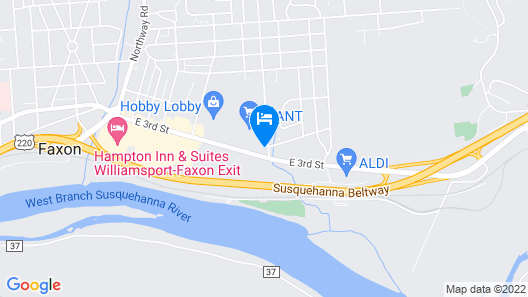 Comfort Inn Williamsport Map