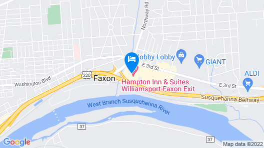 Hampton Inn & Suites Williamsport-Faxon Exit, PA Map