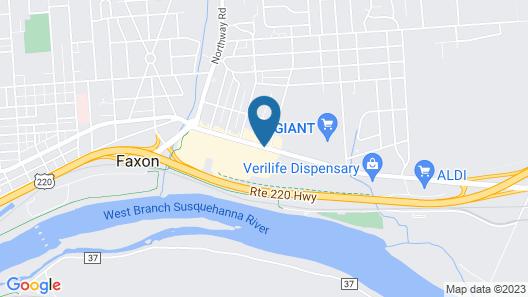 Best Western Williamsport Inn Map