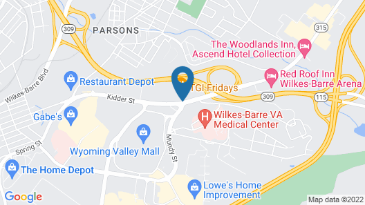 Wilkes-Barre Inn and Suites Map