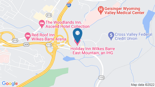 Holiday Inn Wilkes Barre - East Mountain, an IHG Hotel Map