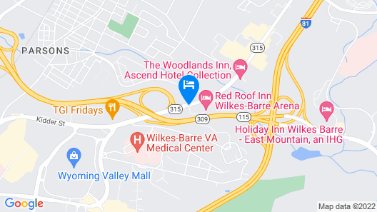 Red Roof Inn Wilkes - Barre Arena Map