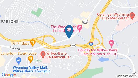 Holiday Inn Express Wilkes Barre East, an IHG Hotel Map
