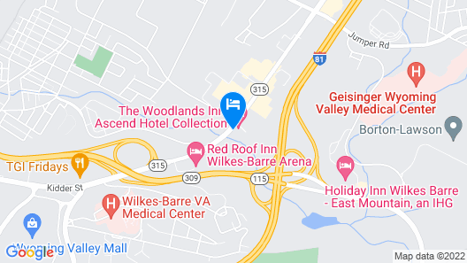 The Woodlands Inn, Ascend Hotel Collection Map