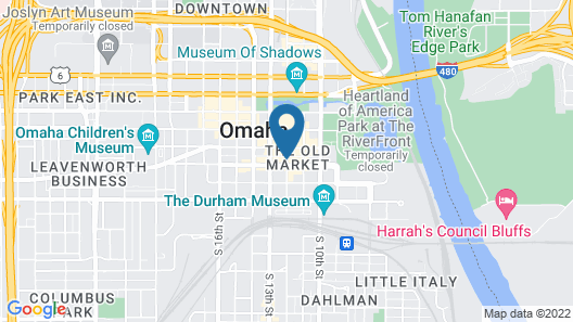 Hyatt Place Omaha Downtown Old Market Map
