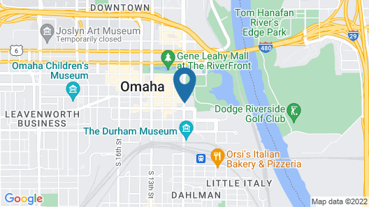 Embassy Suites Omaha - Downtown/Old Market Map
