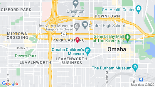 EVEN Hotels Omaha Downtown Map