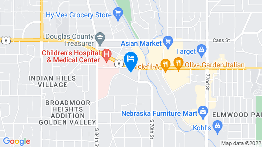 Rodeway Inn West Dodge Map