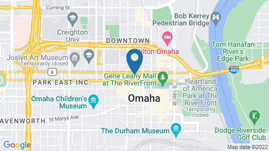 Residence Inn by Marriott Omaha Downtown/Old Market Area Map