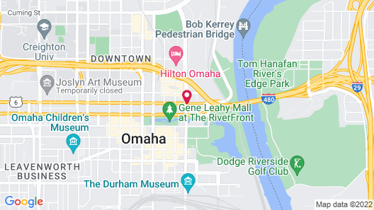 Courtyard by Marriott Omaha Downtown Map