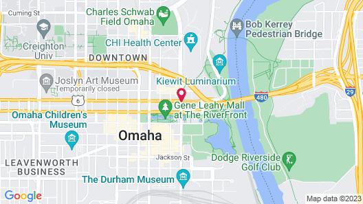 Hilton Garden Inn Omaha Downtown Map