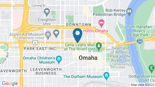 DoubleTree by Hilton Omaha Downtown Map