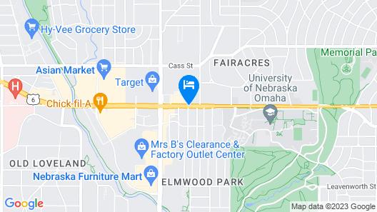 Sonesta ES Suites Omaha Map
