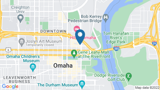 Omaha Marriott Downtown at the Capitol District Map
