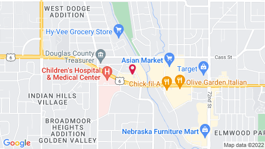 Staybridge Suites Omaha 80th And Dodge, an IHG Hotel Map