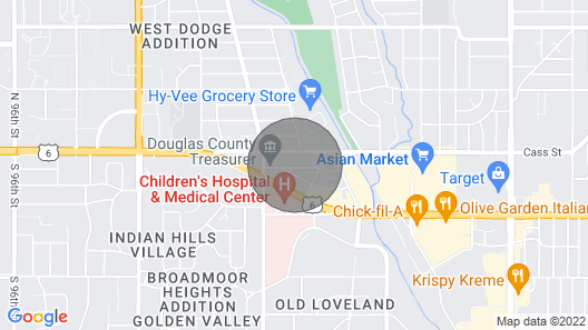 Central Omaha. 15 Minutes to Anywhere! Clean Safe Home. Near Childrens Hospital Map