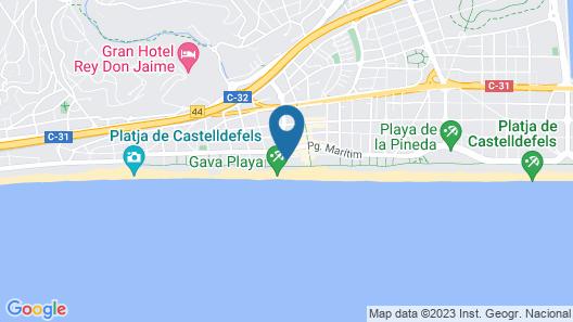 Apartamentos Playa de Castelldefels Map