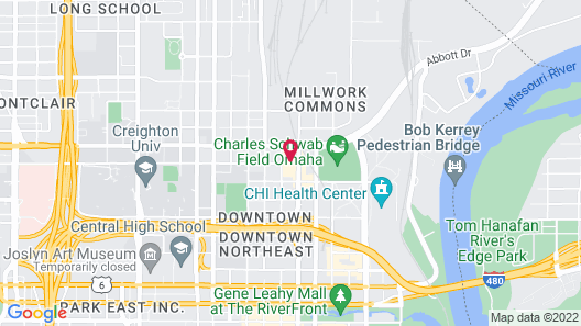 Cambria Hotel Omaha Downtown Map