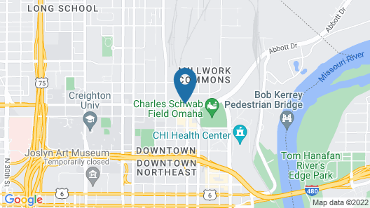 Holiday Inn Omaha Downtown - Airport Map