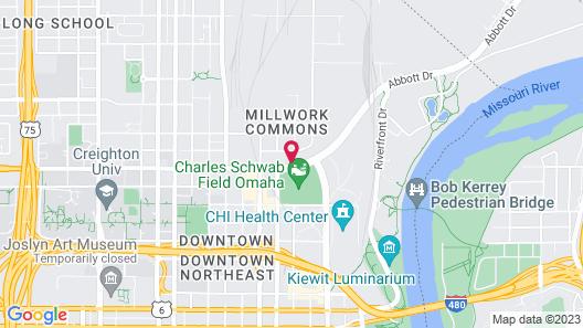 Hampton Inn & Suites Omaha-Downtown Map