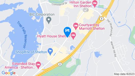 HYATT house Shelton Map