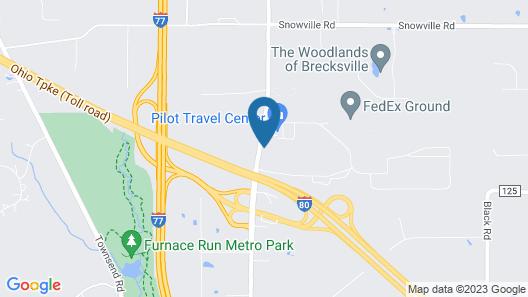 Motel 6 Richfield, OH Map