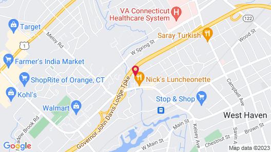 Econo Lodge West Haven Map