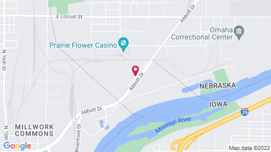 Hampton Inn Omaha Airport Map