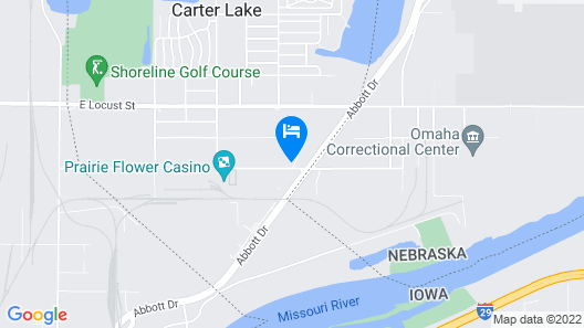 Best Western Plus Omaha Airport Inn Map