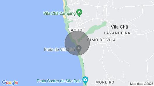 Casa Serena - 1st line of the beach - Vila Cha, Vila do Conde Map
