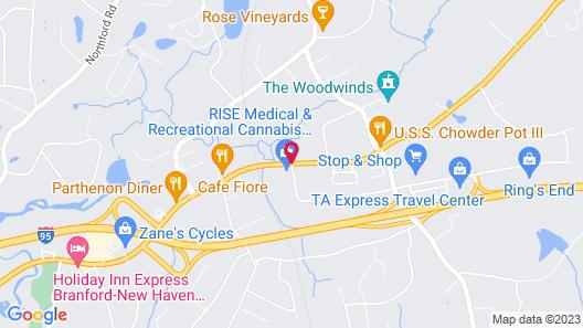 Branford Motel Map