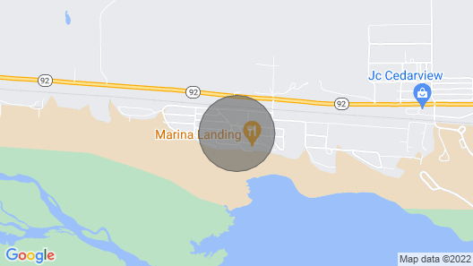 Cozy Cabin, 3 Minute Walk to Beach Front and Boat Ramp Map