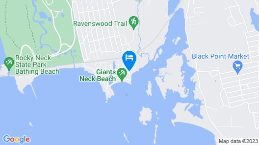 New! Niantic Getaway W/water Views - Walk to Beach Map