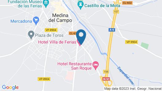 Hotel Villa de Ferias Map