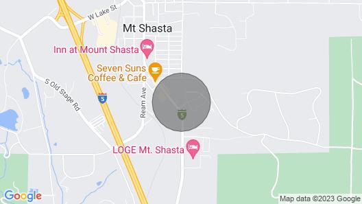 Cozy Home W/fireplace 11 Mi. to Mt Shasta Ski Park Map