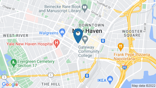 New Haven Hotel Map
