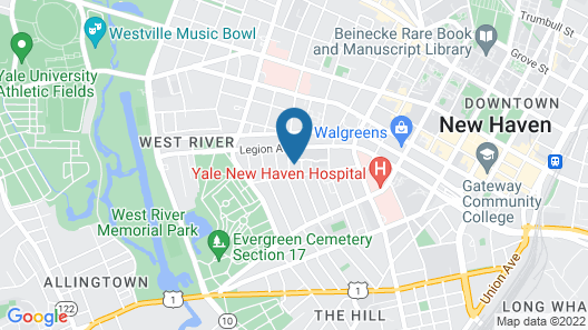 A 4Br Quiet House Near Yale Med School Map