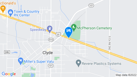 Plaza Motel Clyde Map