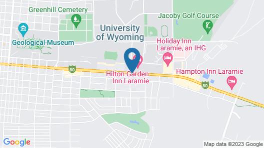 Hilton Garden Inn Laramie Map