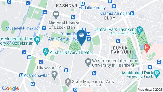 Hotel Uzbekistan Map