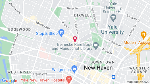 Courtyard New Haven at Yale Map