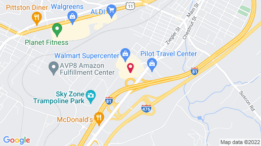 Holiday Inn Express Pittston - Scranton Airport, an IHG Hotel Map
