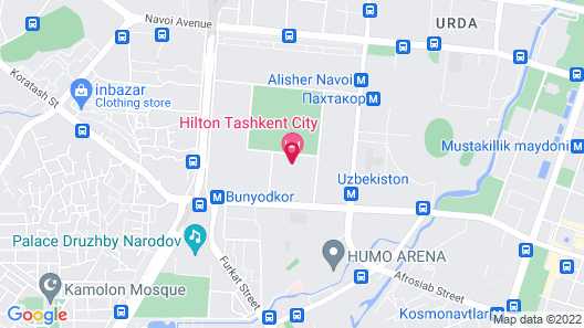 Hilton Tashkent City Map