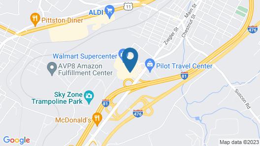 Holiday Inn Express Pittston - Scranton Airport Map