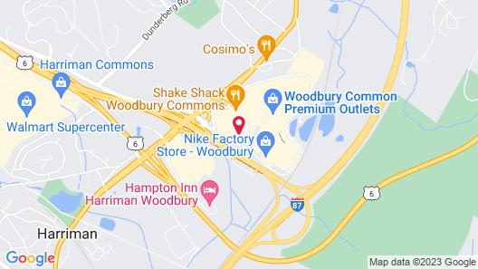 Hampton Inn Harriman Woodbury Map