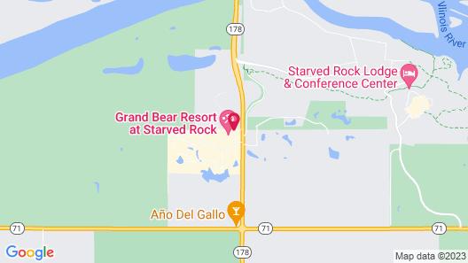 Grand Bear Resort at Starved Rock Map