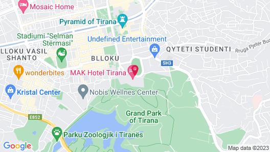 Mak Albania Hotel Map